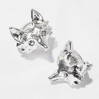 Vera Wang Princess tone simulated crystal fox stud earrings