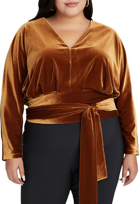 Good American Dolman-Sleeve Velour Top - Inclusive Sizing