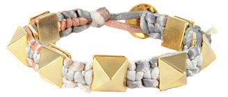 Ettika Earth Satin Cord Pyramid Bracelet