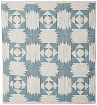 Pottery Barn Linen & Silk Patchwork Quilt & Sham