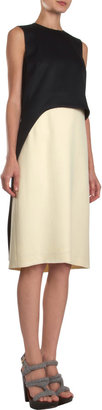 Derek Lam Satin Overlay Top Sleeveless Dress