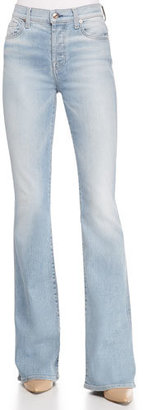 7 For All Mankind High-Waist Vintage Bootcut Jeans $225 thestylecure.com