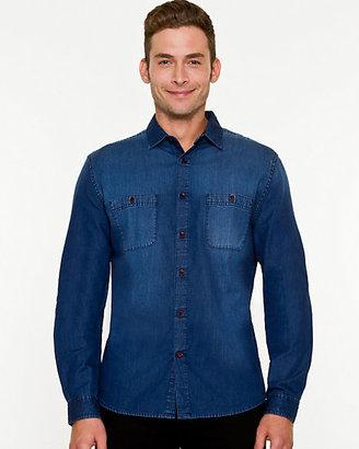 Le Château Denim Tailored Fit Shirt