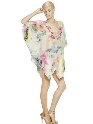 Blumarine Sequined Silk Satin Caftan Dress
