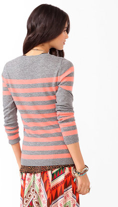 Forever 21 Striped Colorblocked Sweater
