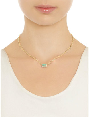 Irene Neuwirth Diamond & Colombian Emerald Pendant Necklace