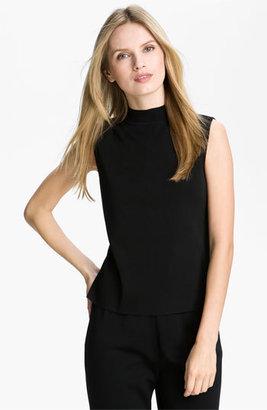 Women's Ming Wang Mock Neck Shell $115 thestylecure.com