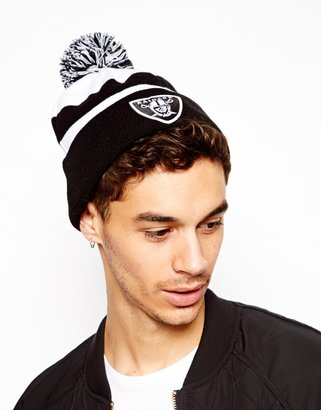 New Era Raiders Bobble Beanie Hat