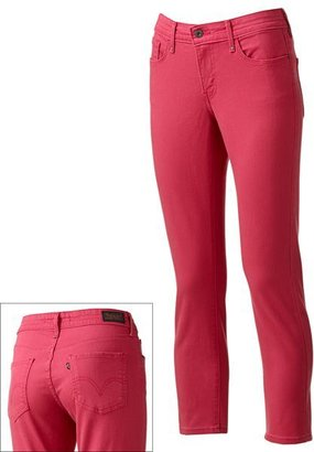 Levi's color midrise skinny ankle jeans