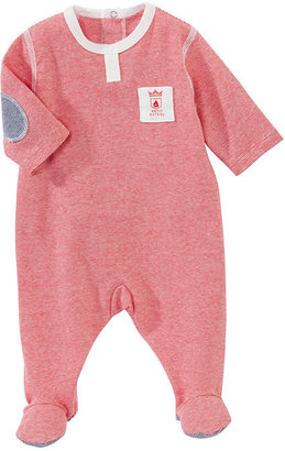 Petit Bateau Baby Boy Cotton Crawler With Thin Stripes