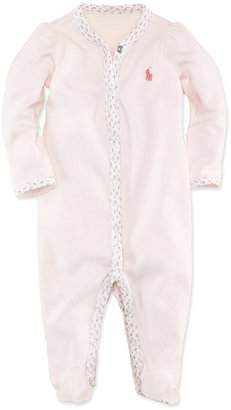 Ralph Lauren Baby Coverall, Baby Girls Interlock Stretch Coverall $27.50 thestylecure.com