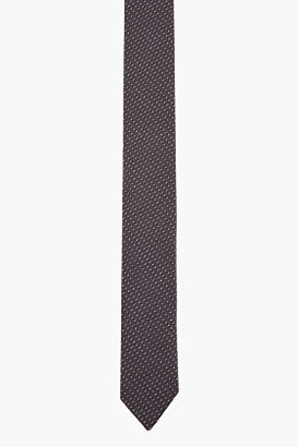 Neil Barrett Grey Colorblocked Slim Tie