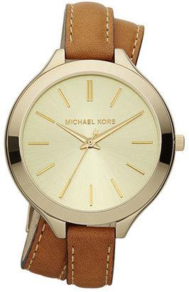 Michael Kors Double-Wrap Leather Watch, Golden $195 thestylecure.com
