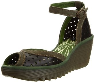 Fly London Women's Yoda Perforated Wedge Sandal