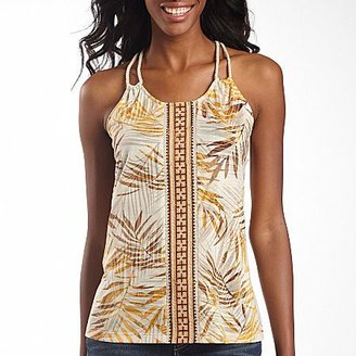JCPenney a.n.a® Print Rope Tank Top Green