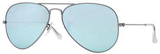 Ray-Ban Aviator Mirrored Sunglasses, Green/Blue