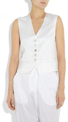 The Row Vamus brushed-twill vest