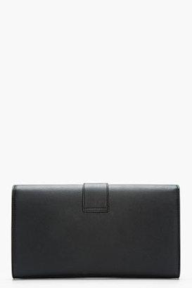 Saint Laurent Black Leather Chyc Clutch