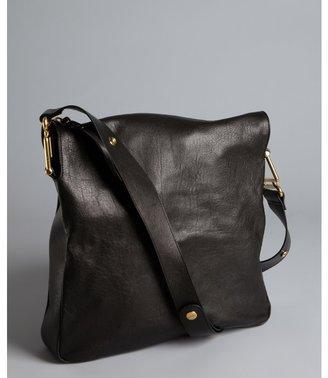 Chloé black leather 'Vanessa' zip shoulder bag
