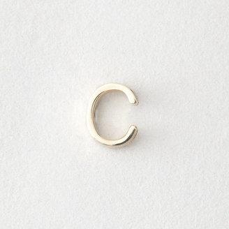 Maya Brenner DESIGNS mini letter stud earring - c