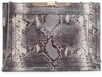 Zara Snakeskin Leather Clutch Bag