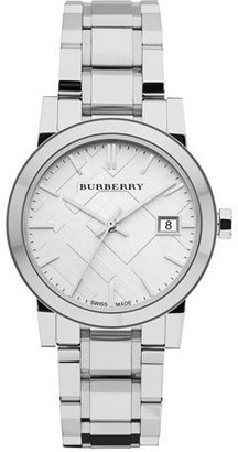 Burberry 34mm Stainless Steel Watch with 5-Link Strap $495 thestylecure.com