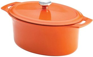 Rachael Ray Cast Iron 6.5 qt. Covered Oval Casserole in Orange