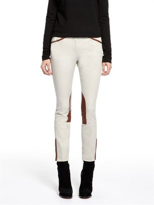 DKNY **** Ankle Skinny Pant With Leather Riding Patch And Ankle Zipper