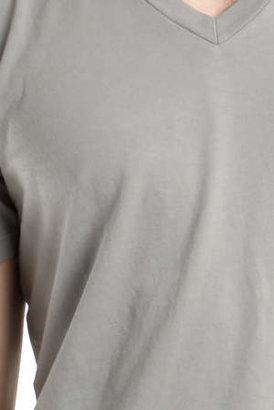 Simon Spurr Spurr by V Neck T-Shirt in Grey