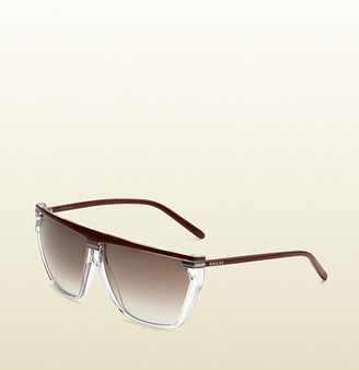 Gucci Medium Rectangle Frame Sunglasses With Logo On Temples.