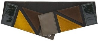 Jean Paul Gaultier Geometric Khaki Belt