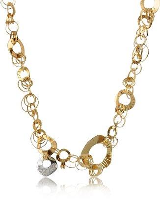 Orlando Orlandini Fashion - Diamond 18K Rose Gold Chain Necklace