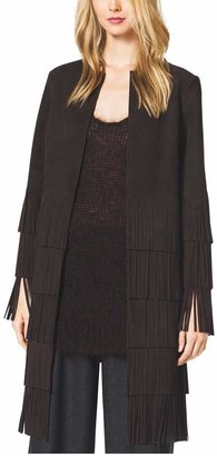 Michael Kors Suede Fringe Coat