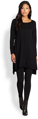 Eileen Fisher Merino Wool Hi-Lo Sweater Dress