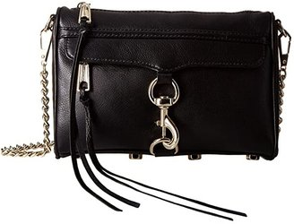 Rebecca Minkoff Mini Mac (Black 1) Cross Body Handbags