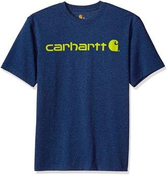 Carhartt Men's Signature Logo Short Sleeve Midweight Jersey T-Shirt
