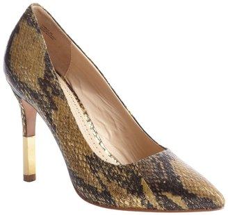 Pour La Victoire gold and black python 'Camrin' pumps