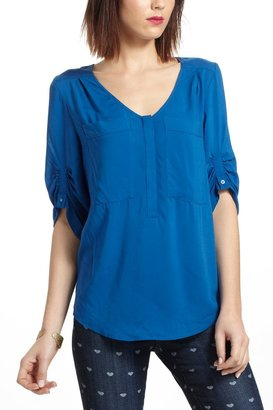 Anthropologie Charleston Henley Peasant Blouse