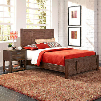 JCPenney Weatherford Bed and Nightstand