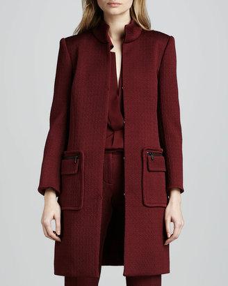 Rachel Zoe Catalina Stand-Collar Coat, Wine