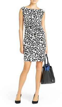 Diane von Furstenberg New Della Silk Shift Dress In Lips Silhouette