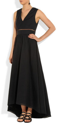 Tibi Cotton and silk-blend maxi dress