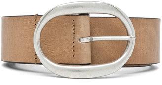 Isabel Marant Celia Leather Belt in Camel Argent