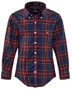 Gant Blue And Red Plaid Check Shirt