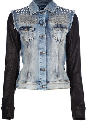 Philipp Plein denim studded jacket