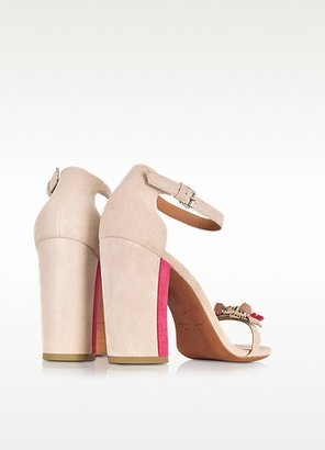 Marc by Marc Jacobs Pink and Raspberry Suede Sandal