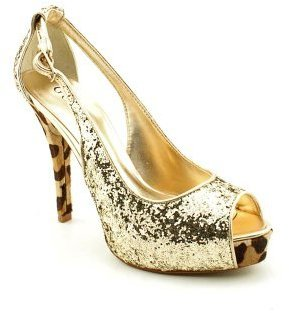 GUESS G By Hondola3 Womens Peep Toe Platforms Heels Shoes
