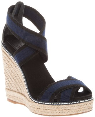 Tory Burch Cotton wedge sandal