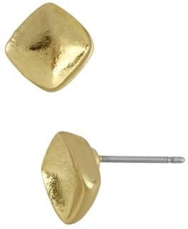 Kenneth Cole NEW YORK Gold Tone Stud Earrings