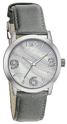 D&G Dolce & Gabbana Women's DW0691 Leather Silver Dial Watch